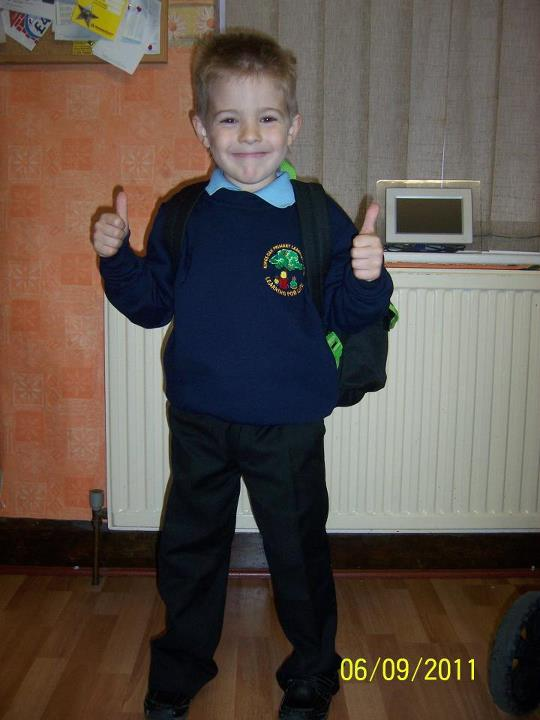First day in Year 1, aged 5yrs.