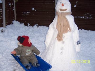 Bruiser's 1st Snowman