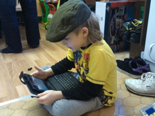 getting to grips with his Tablet