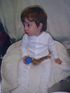 Angel Bruiser in his 1st Nativity