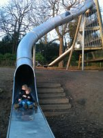 boys on slide
