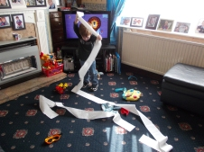 A toilet roll will never fail to entertain a little one!
