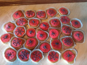 spiderman buns