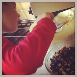 baking the christmas cake